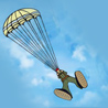 22 октября – Первый прыжок с парашютом